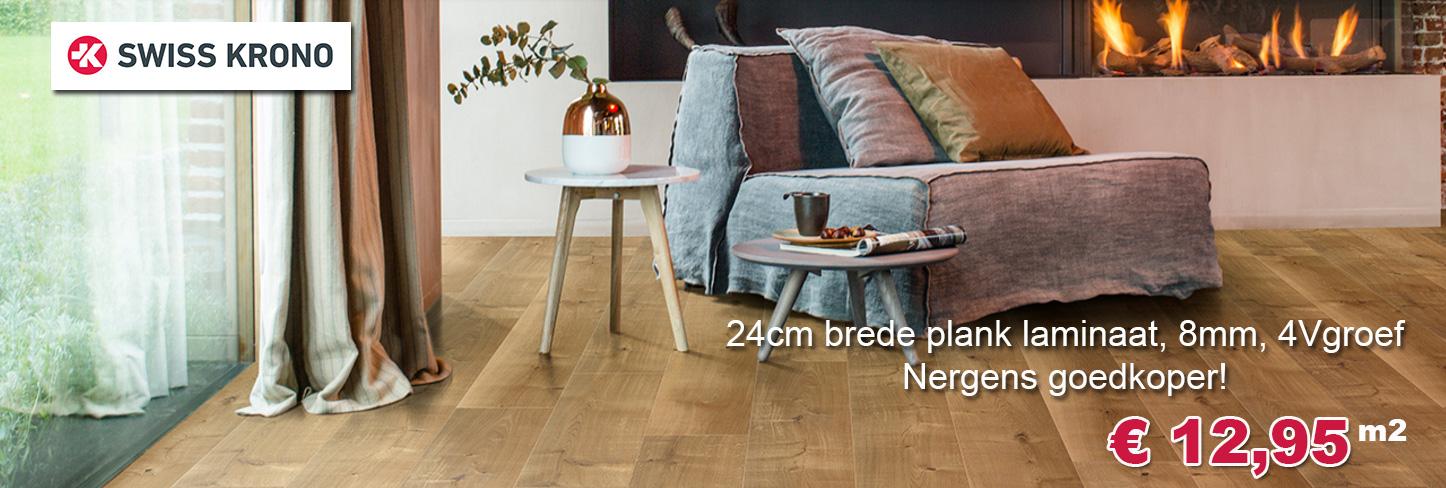 Brede plank 24cm laminaat aanbieding